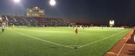 Les tribunes du Miller Stadium bien pleines lors d'un match du Rayo OKC.